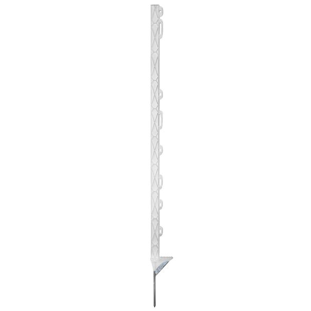 Plastic post Titan Plus 108cm white reinforced step