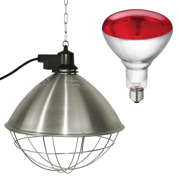 Infrared Reflector with hard glas lamp 250 W red