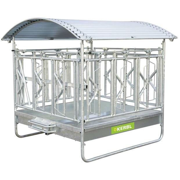 Square Hay Rack with Self-Closing Feeding Grate for...