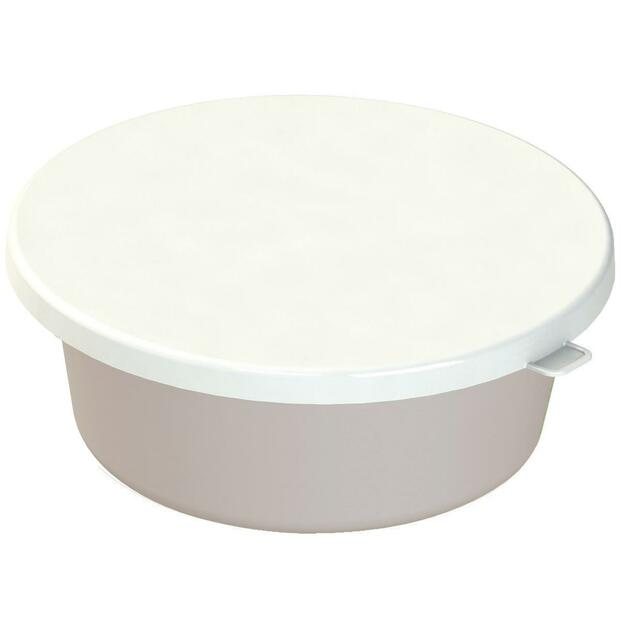 Lid for feeding bowl white