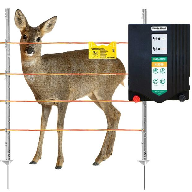 Agrarzone deer fence Complete electric fence for garden...