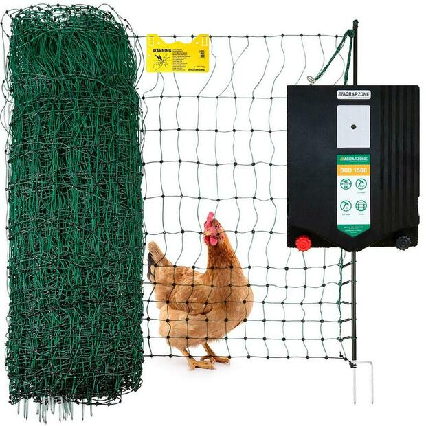 Agrarzone Poultry fence set duo 12v / 230v, 50 m mains