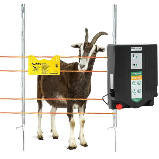 Agricultural zone goat fence complete set DUO 3000