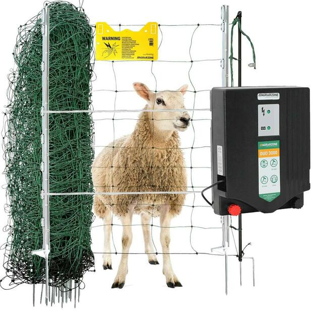 Agrarzone wolf emergency electric fence set for sheep