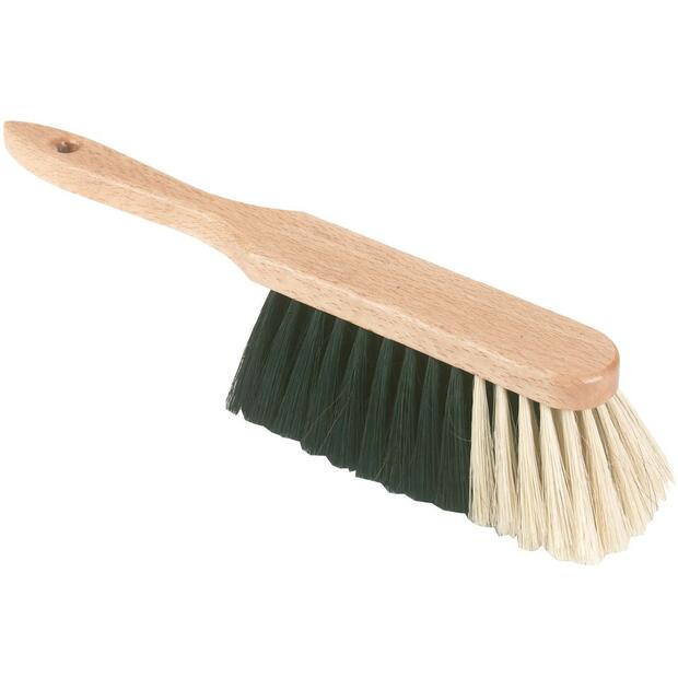 Hand brush with horsehair bristles